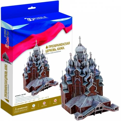 3D пазл Преображенская церковь, Кижи Россия Бишкек и Ош купить в магазине игрушек LEMUR.KG доставка по всему Кыргызстану