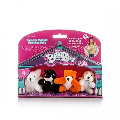 из 4 мини мягких игрушек 'Beanzees' Мышка, котик, медведь и песик Бишкек и Ош купить в магазине игрушек LEMUR.KG доставка по всему Кыргызстану