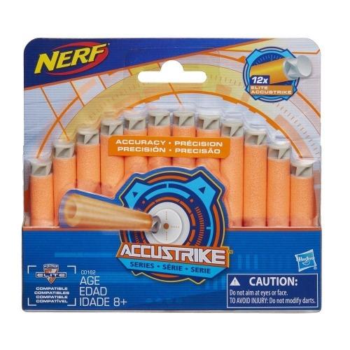 Стрелы для бластеров NERF N-Strike Аккустрайк 12 шт. Бишкек и Ош купить в магазине игрушек LEMUR.KG доставка по всему Кыргызстану