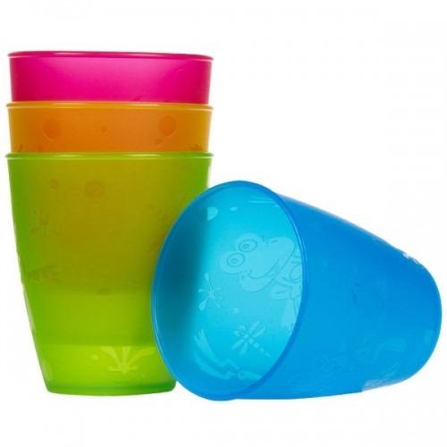 NUBY Разноцветные стаканы (4 шт.) Бишкек и Ош купить в магазине игрушек LEMUR.KG доставка по всему Кыргызстану