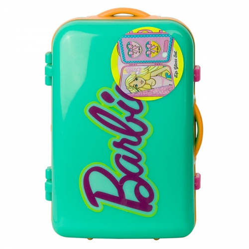 Набор детской косметики Барби в чемоданчике зел. Бишкек и Ош купить в магазине игрушек LEMUR.KG доставка по всему Кыргызстану