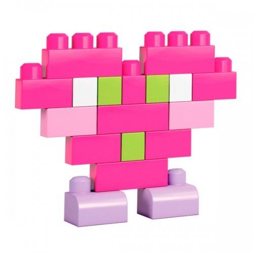 Mega Bloks Первостроители. 60шт. Розовый Бишкек и Ош купить в магазине игрушек LEMUR.KG доставка по всему Кыргызстану