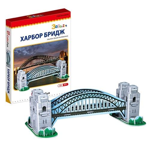 3D пазл Харбор Бридж (Австралия) мини серия Бишкек и Ош купить в магазине игрушек LEMUR.KG доставка по всему Кыргызстану