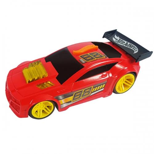 Машинка Hot Wheels на бат. свет+звук красн. 13 см Бишкек и Ош купить в магазине игрушек LEMUR.KG доставка по всему Кыргызстану
