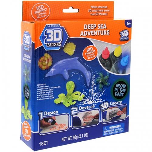 Набор  формочки + гели 3D Maker 'Глубоководный мир' Бишкек и Ош купить в магазине игрушек LEMUR.KG доставка по всему Кыргызстану