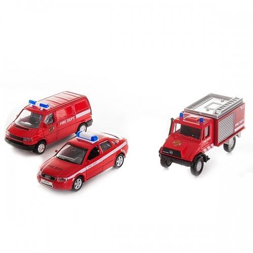 Welly набор машин 'Пожарная служба' 3 шт. Бишкек и Ош купить в магазине игрушек LEMUR.KG доставка по всему Кыргызстану
