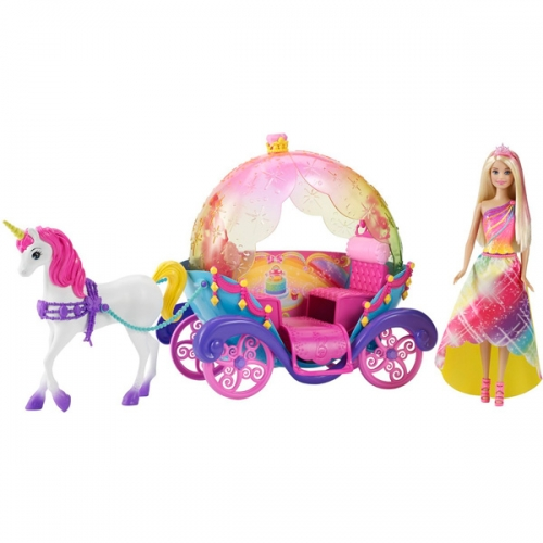 Барби Набор Радужная карета и кукла Бишкек и Ош купить в магазине игрушек LEMUR.KG доставка по всему Кыргызстану