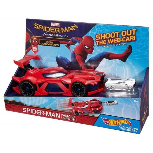 Набор Hot Wheels Стреляющий автомобиль человека-паука Бишкек и Ош купить в магазине игрушек LEMUR.KG доставка по всему Кыргызстану