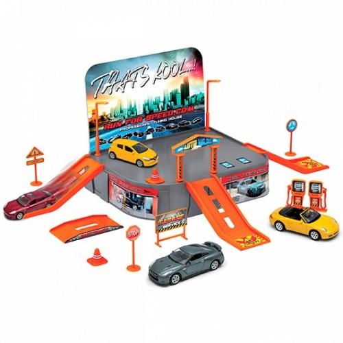 Игрушка игровой набор Гараж,  включает 1 машину Бишкек и Ош купить в магазине игрушек LEMUR.KG доставка по всему Кыргызстану