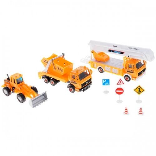 Welly набор машин 'Строительная техника' 10 шт. Бишкек и Ош купить в магазине игрушек LEMUR.KG доставка по всему Кыргызстану