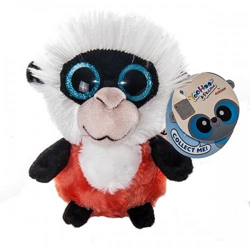Мягкая игрушка Aurora Юху и друзья Обезьянка Колобус 12 см Бишкек и Ош купить в магазине игрушек LEMUR.KG доставка по всему Кыргызстану