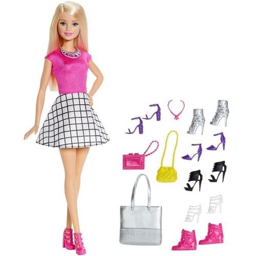 Барби Модный гардероб с аксессуарами (блондинка) Бишкек и Ош купить в магазине игрушек LEMUR.KG доставка по всему Кыргызстану