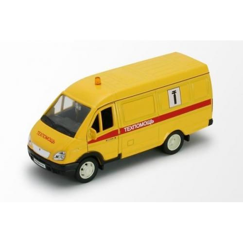 Welly модель машины ГАЗель техпомощь Бишкек и Ош купить в магазине игрушек LEMUR.KG доставка по всему Кыргызстану