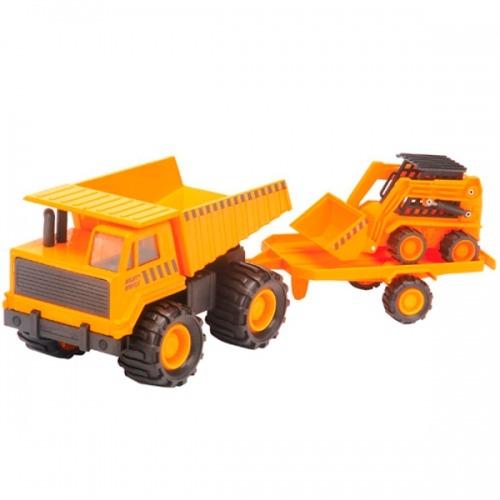 Карьерный грузовик и минипогрузчик 18 см. Бишкек и Ош купить в магазине игрушек LEMUR.KG доставка по всему Кыргызстану