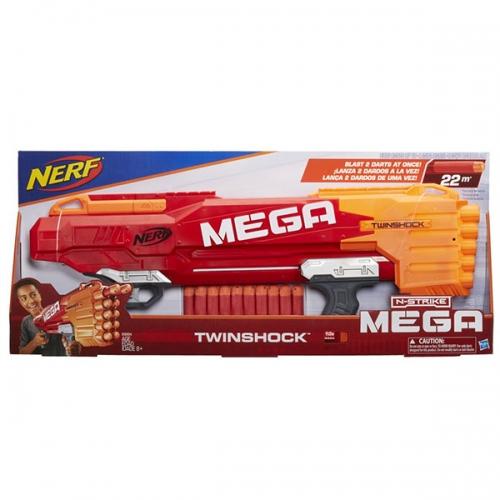 Бластер NERF Мега Твиншок Бишкек и Ош купить в магазине игрушек LEMUR.KG доставка по всему Кыргызстану
