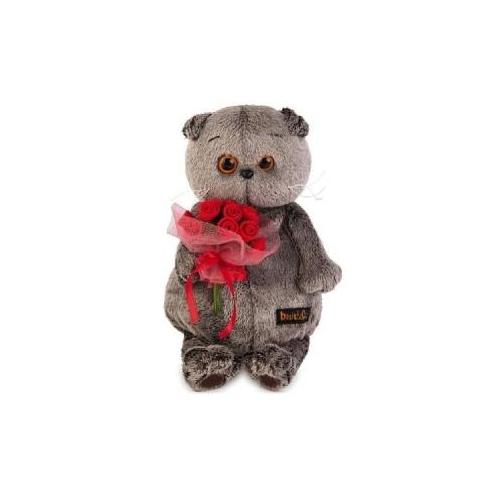 Мягкая игрушка Басик с букетиком роз Бишкек и Ош купить в магазине игрушек LEMUR.KG доставка по всему Кыргызстану