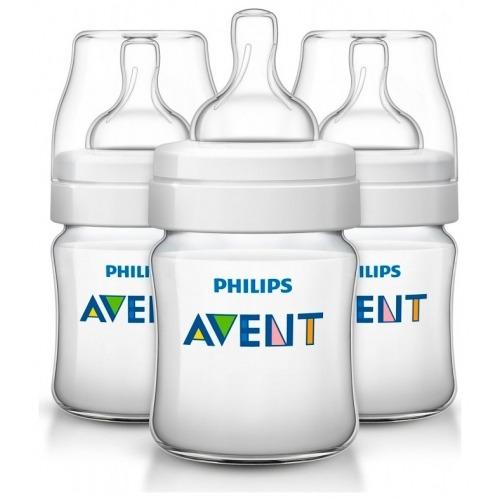 Avent Бутылочка 125 мл, 3 шт. соска с потоком для новорожденного Бишкек и Ош купить в магазине игрушек LEMUR.KG доставка по всему Кыргызстану