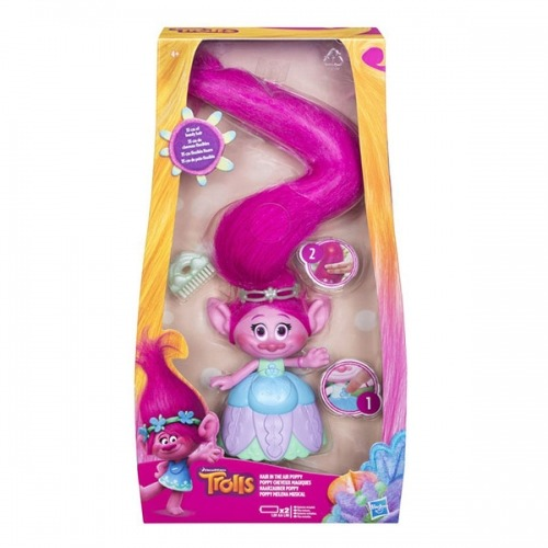 Игровой набор Тролли Поопи с поднимающимися волосами Бишкек и Ош купить в магазине игрушек LEMUR.KG доставка по всему Кыргызстану