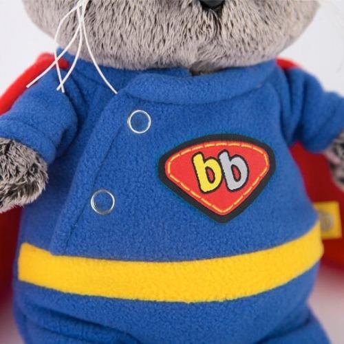 Мягкая игрушка Басик Baby в костюме супермена Бишкек и Ош купить в магазине игрушек LEMUR.KG доставка по всему Кыргызстану