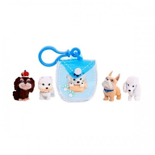 Puppy in my pocket брелок-сумочка голубая с 5 щенками Бишкек и Ош купить в магазине игрушек LEMUR.KG доставка по всему Кыргызстану