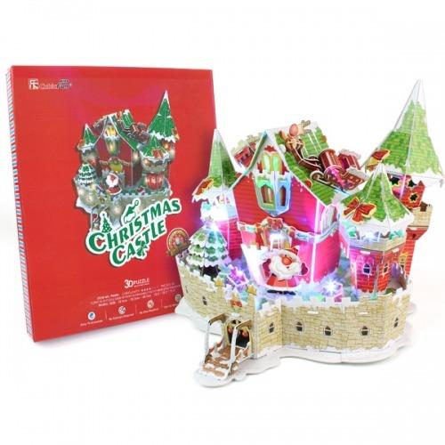 3D пазл Сказочный рождественский замок ( с подсветкой ) Бишкек и Ош купить в магазине игрушек LEMUR.KG доставка по всему Кыргызстану