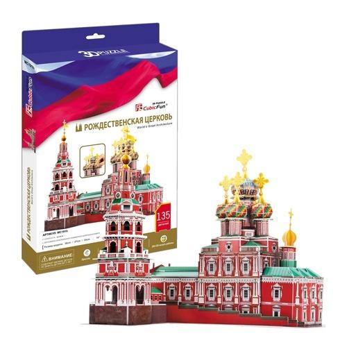 3D пазл Рождественская церковь (Россия) Бишкек и Ош купить в магазине игрушек LEMUR.KG доставка по всему Кыргызстану