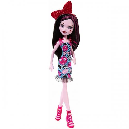 Monster High Дракулаура 'Эмодзи' (обновленный дизайн) Бишкек и Ош купить в магазине игрушек LEMUR.KG доставка по всему Кыргызстану