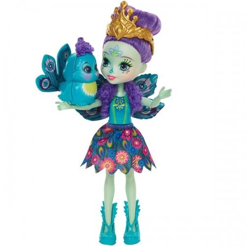 Кукла 'Энчантималс' с питомцем - Пэтти Павлин, 15 см. Бишкек и Ош купить в магазине игрушек LEMUR.KG доставка по всему Кыргызстану