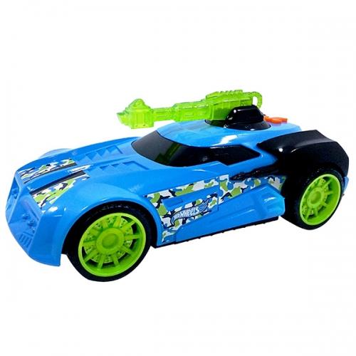 Машинка Hot Wheels на бат. свет+звук голубая 27 см Бишкек и Ош купить в магазине игрушек LEMUR.KG доставка по всему Кыргызстану