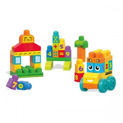 Mega Bloks Первостроители. 'Учимся считать' Автобус Бишкек и Ош купить в магазине игрушек LEMUR.KG доставка по всему Кыргызстану