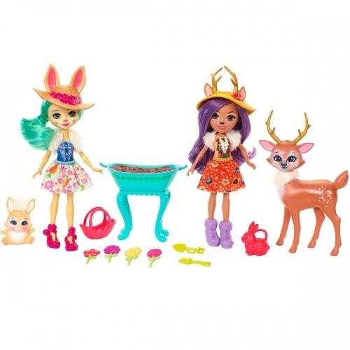 Игровой набор 'Энчантималс' из двух кукол с зверюшками Бишкек и Ош купить в магазине игрушек LEMUR.KG доставка по всему Кыргызстану