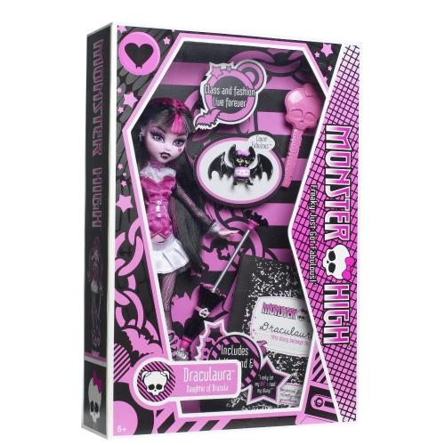 Monster High Дракулаура с питомцем Первый Выпуск Бишкек и Ош купить в магазине игрушек LEMUR.KG доставка по всему Кыргызстану