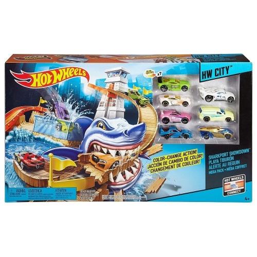 Hot Wheels 'Атака акулы' c 7 машинками меняющими цвет Бишкек и Ош купить в магазине игрушек LEMUR.KG доставка по всему Кыргызстану