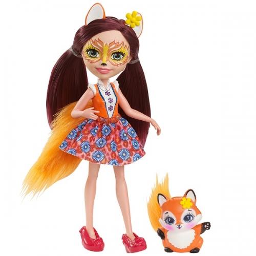 Кукла 'Энчантималс' с питомцем - Фелисити Лис, 15 см Бишкек и Ош купить в магазине игрушек LEMUR.KG доставка по всему Кыргызстану