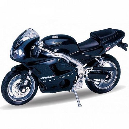 Welly модель мотоцикла 1:18 Triumph Daitona 955I Бишкек и Ош купить в магазине игрушек LEMUR.KG доставка по всему Кыргызстану