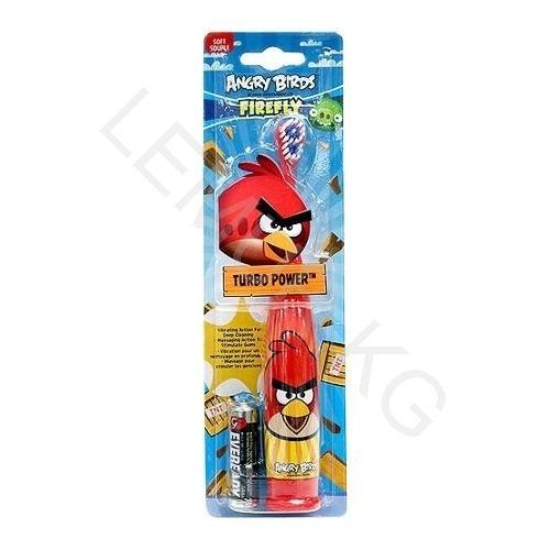 Детская вибрационная зубная щетка Angry Birds Firefly красная  Бишкек и Ош купить в магазине игрушек LEMUR.KG доставка по всему Кыргызстану