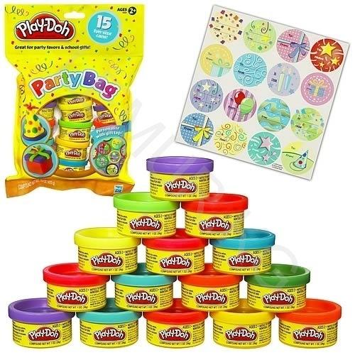 пластилина Play-Doh для праздника (15 баночек) + наклейки Бишкек и Ош купить в магазине игрушек LEMUR.KG доставка по всему Кыргызстану