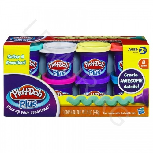 пластилина Play-Doh PLUS 8 баночек Бишкек и Ош купить в магазине игрушек LEMUR.KG доставка по всему Кыргызстану