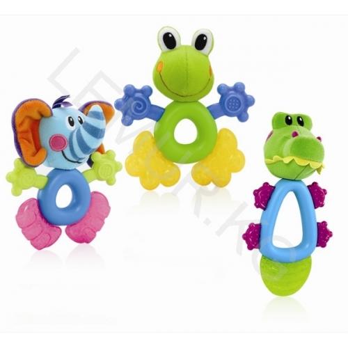 NUBY Прорезыватель 'лягушка, крокодил, свинка, слоник' Бишкек и Ош купить в магазине игрушек LEMUR.KG доставка по всему Кыргызстану