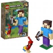 LEGO: Большие фигурки Minecraft, Стив с попугаем Бишкек и Ош купить в магазине игрушек LEMUR.KG доставка по всему Кыргызстану