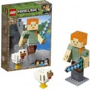 LEGO: Большие фигурки Minecraft, Алекс с цыплёнком Бишкек и Ош купить в магазине игрушек LEMUR.KG доставка по всему Кыргызстану