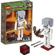 LEGO: Большие фигурки Minecraft, скелет с кубом магмы Бишкек и Ош купить в магазине игрушек LEMUR.KG доставка по всему Кыргызстану