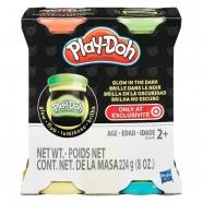 пластилина Play-Doh 'Светящиеся в темноте', 4 цвета Бишкек и Ош купить в магазине игрушек LEMUR.KG доставка по всему Кыргызстану