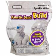 Кинетический песок Kinetic Sand из серии 'Build' (вес - 454 гр.) - белый Бишкек и Ош купить в магазине игрушек LEMUR.KG доставка по всему Кыргызстану