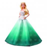 Коллекционная кукла Барби праздничная в зеленом платье Бишкек и Ош купить в магазине игрушек LEMUR.KG доставка по всему Кыргызстану