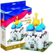 3D пазл Успенский собор, Троице-Сергиева Лавра (Россия) Бишкек и Ош купить в магазине игрушек LEMUR.KG доставка по всему Кыргызстану