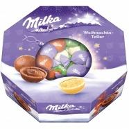 Новогодний набор конфет Milka Christmas Plate, 141 гр Бишкек и Ош купить в магазине игрушек LEMUR.KG доставка по всему Кыргызстану