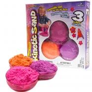 Песок для лепки Kinetic Sand. 907гр. 3 цвета в наборе Бишкек и Ош купить в магазине игрушек LEMUR.KG доставка по всему Кыргызстану