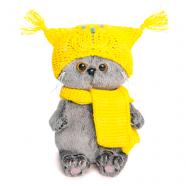 Мягкая игрушка Басик Baby в шапке-сова и шарфе Бишкек и Ош купить в магазине игрушек LEMUR.KG доставка по всему Кыргызстану
