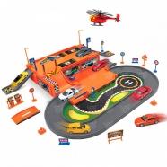 Игрушка игровой набор Гараж, включает 3 машины и вертолет Бишкек и Ош купить в магазине игрушек LEMUR.KG доставка по всему Кыргызстану